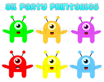 Pink Eyes clipart cute monster Clipart Monsters Clipart Monsters Alien