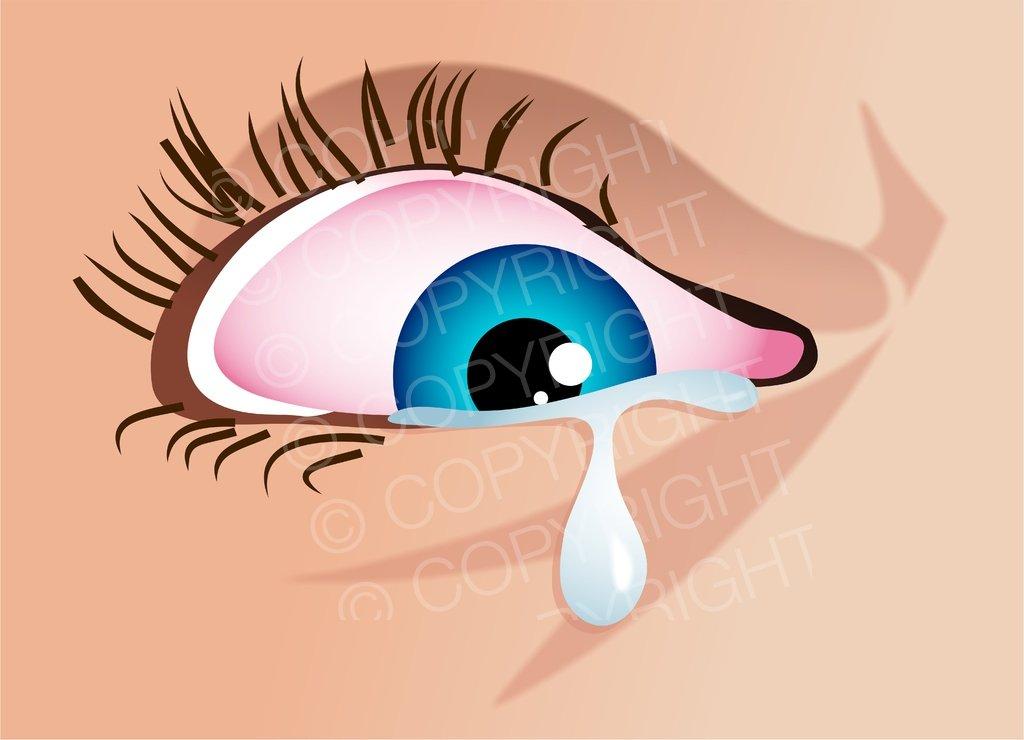 Blue Eyes clipart eye tear Clipart Cartoons Illustration Tearful –