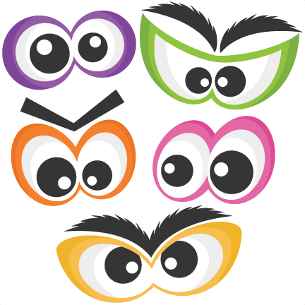 Pink Eyes clipart eyeball Silhouette Halloween files Spooky cute
