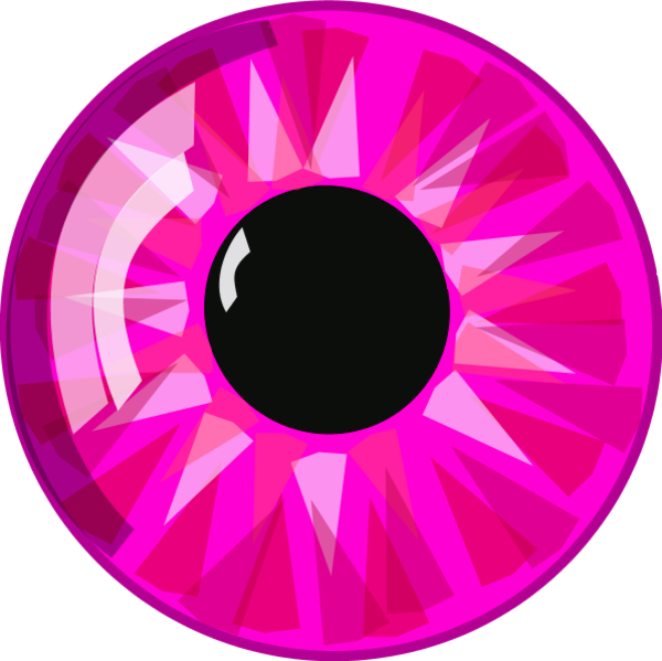 Pink Eyes clipart eyeball Eye Zone Cliparts Eye Color
