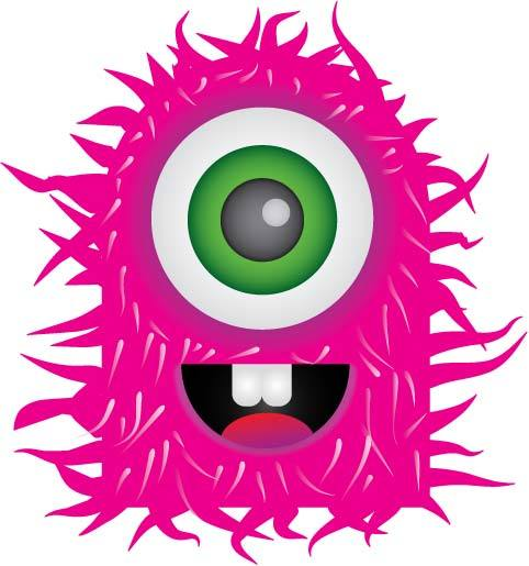 Pink Eyes clipart monster creature Art Clipart Monsters Clip Images