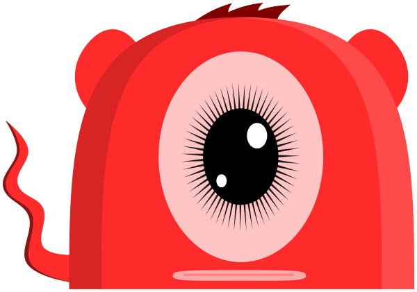 Pink Eyes clipart monster creature  one creature html eye