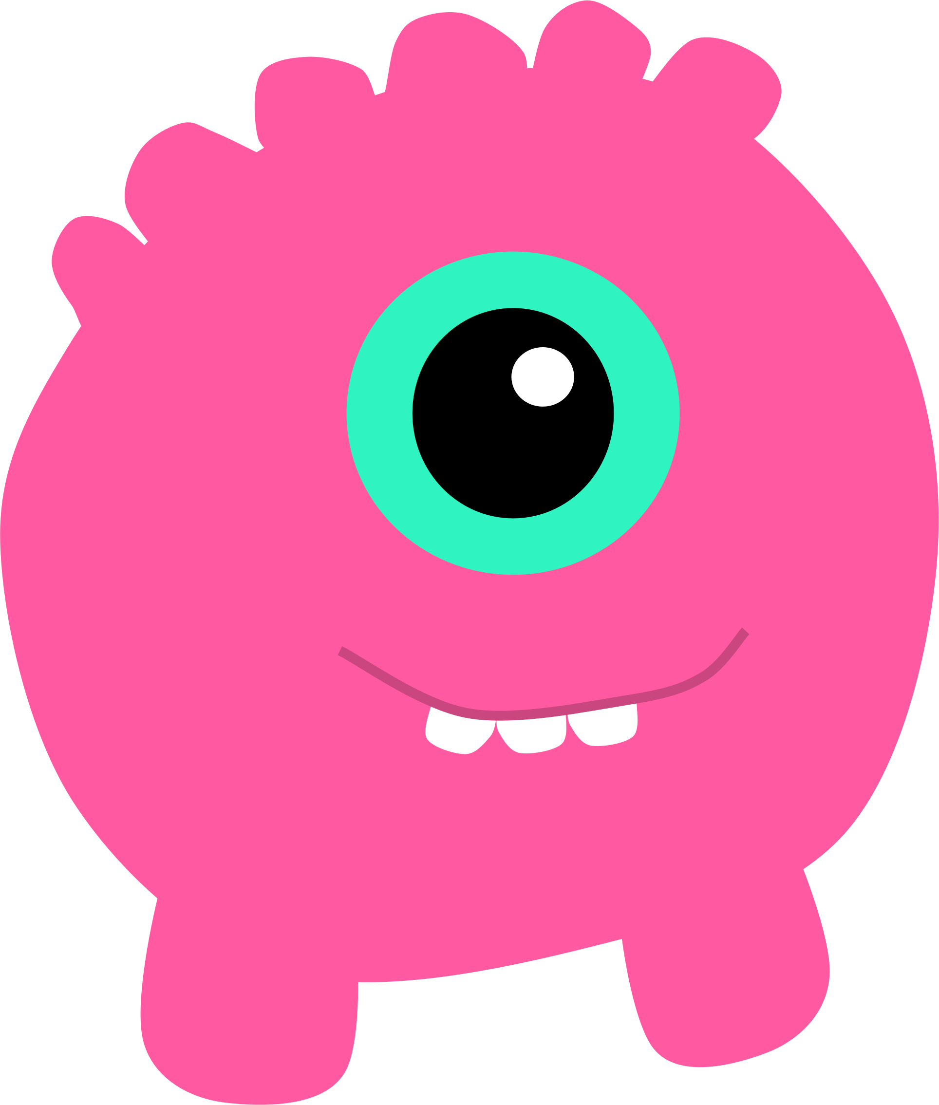 Pink Eyes clipart monster creature Pink Clipart Monster Pink Monster