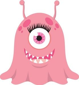 Monster clipart cute alien spaceship #8