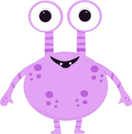 Pink Eyes clipart monster creature #5