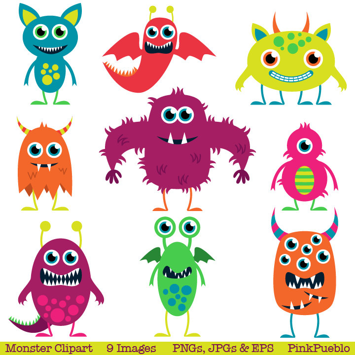 Pink Eyes clipart monster creature Monster Cute Cute collection Clip