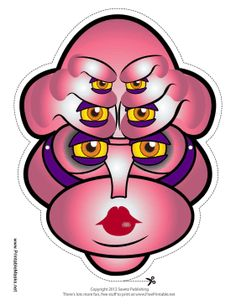 Pink Eyes clipart monster head A a this pink head