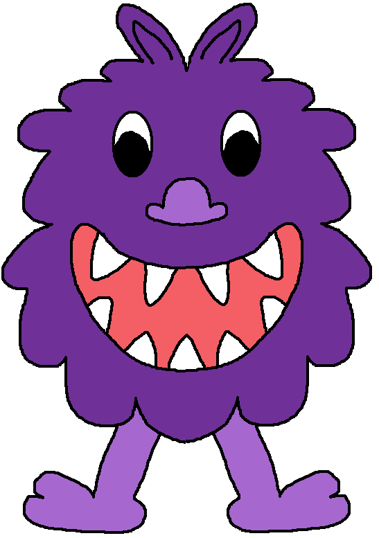 Pink Eyes clipart monster head Monsters Clipart Others Head Purple
