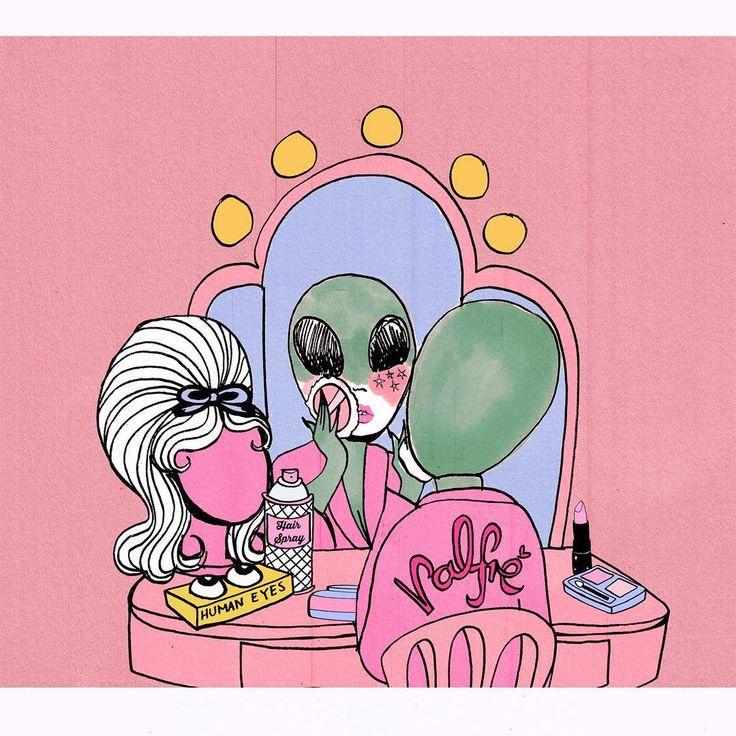 Pink Eyes clipart orange alien De art ideas Me @valfre
