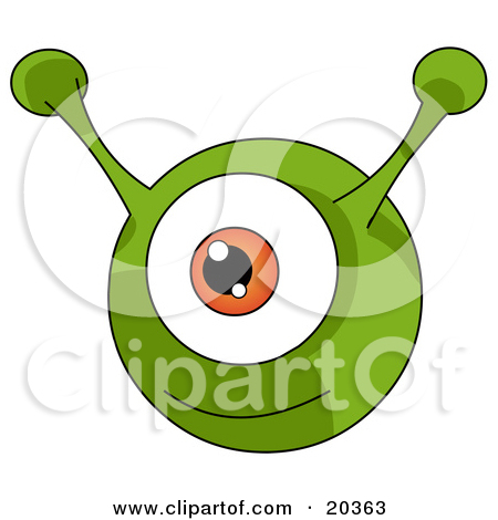 Pink Eyes clipart orange alien Alien cliparts Ears Clipart Alien