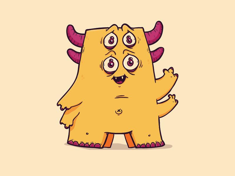 Pink Eyes clipart orange alien #7
