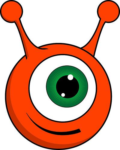 Pink Eyes clipart orange alien #1