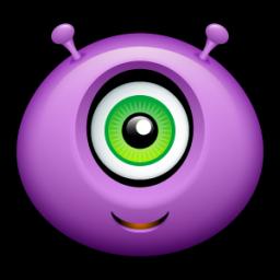 Pink Eyes clipart purple alien #7