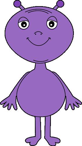 Pink Eyes clipart purple alien #2