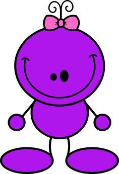 Pink Eyes clipart purple alien #1