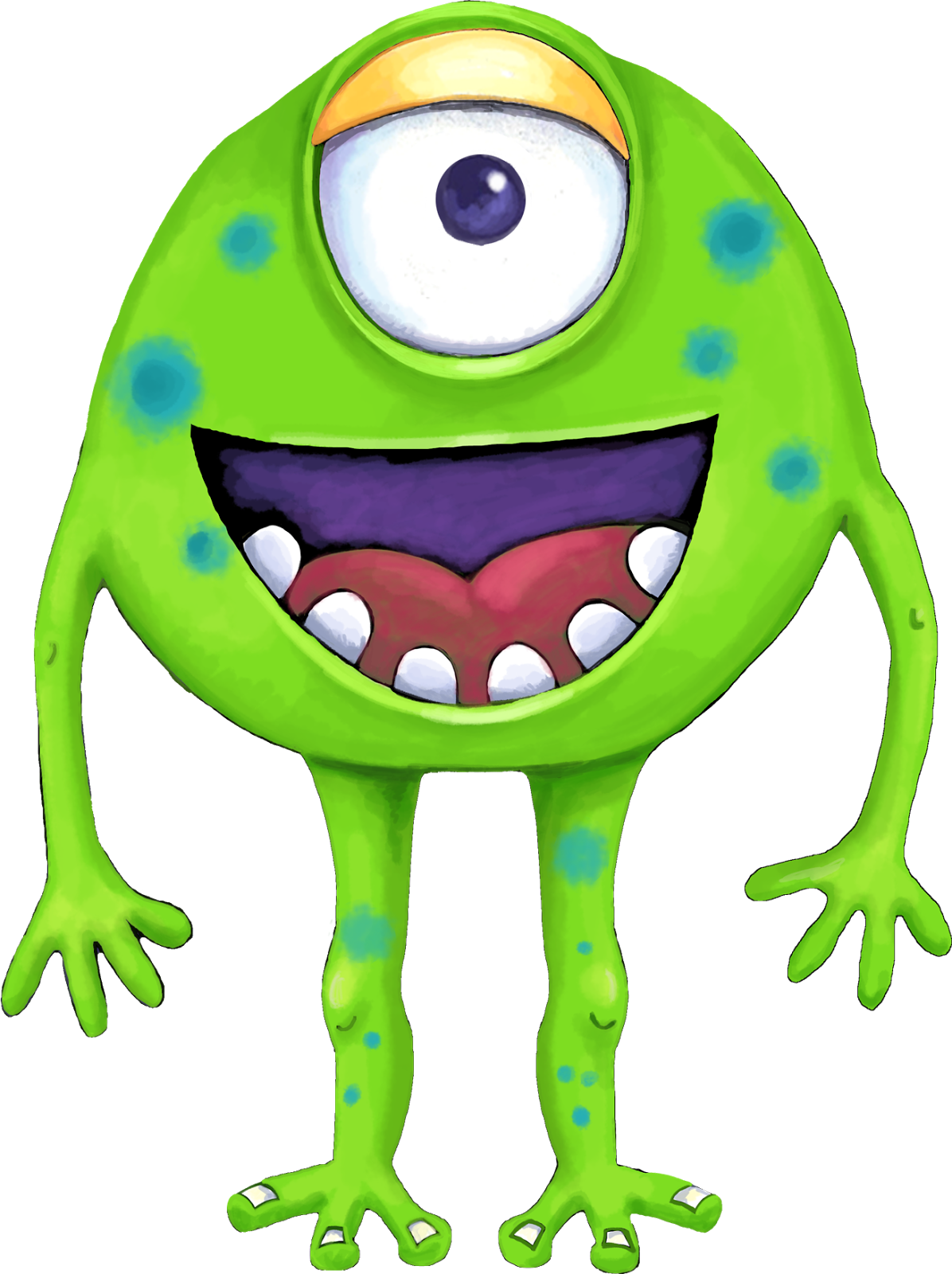 Pink Eyes clipart purple alien Purple and clip Monsters! Art: