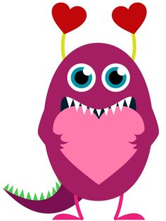 Pink Eyes clipart red monster Art Monster more Solid Image