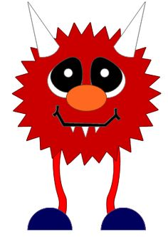 Pink Eyes clipart red monster #7