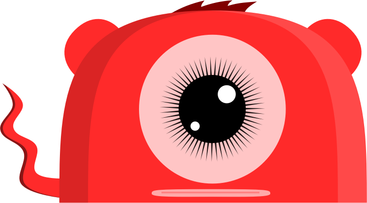 Pink Eyes clipart red monster Red Art Monster One Clip