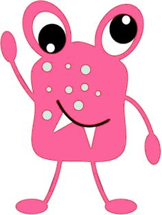 Pink Eyes clipart red monster #5