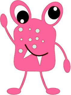 Pink Eyes clipart red monster Monster Art for Kit for