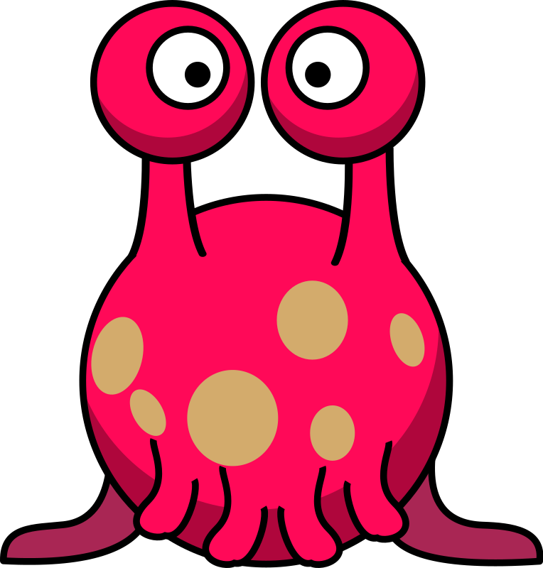 Pink Eyes clipart red monster #2