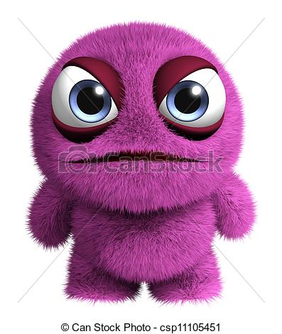 Pink Eyes clipart red monster Stock pink Clipart Search Illustrations