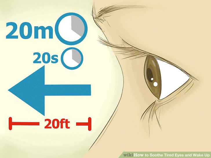 Pink Eyes clipart tired eye Ways Yoga wikiHow Eye titled