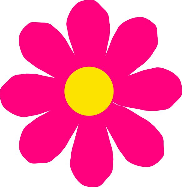 Pink Flower clipart Free Images Flower Clipart Pink