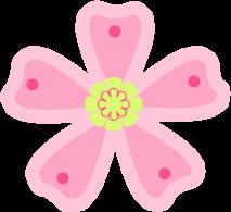 Floral clipart pink flower Art Clip Flower Green Flower