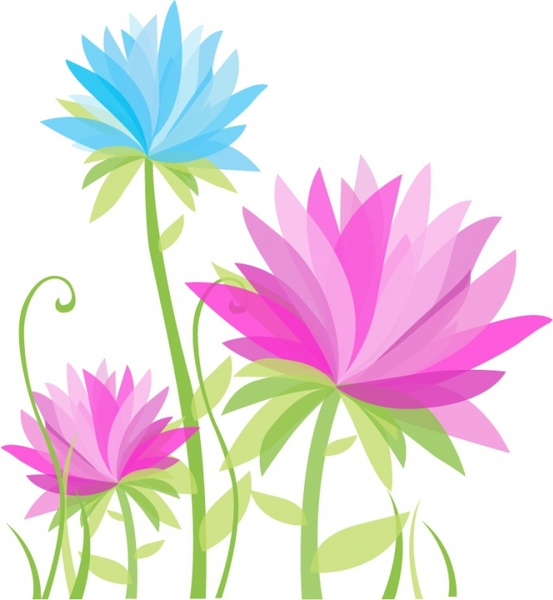 Wildflower clipart abstract  flower Abstract Free free