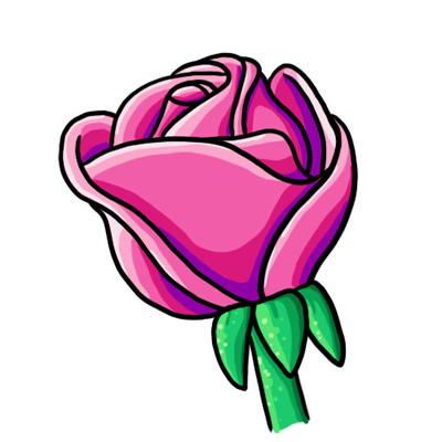 Pink Rose clipart cartoon Collection Of Clipart Children Bouquet