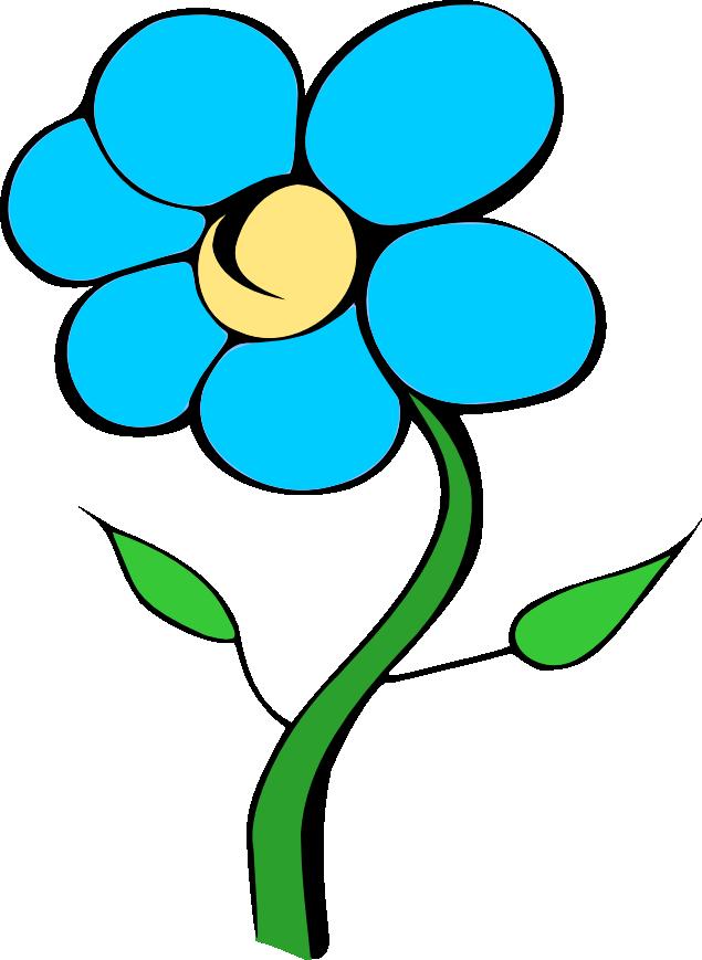 Pink Flower clipart blue flower Clipart Clip Art on Nichols'
