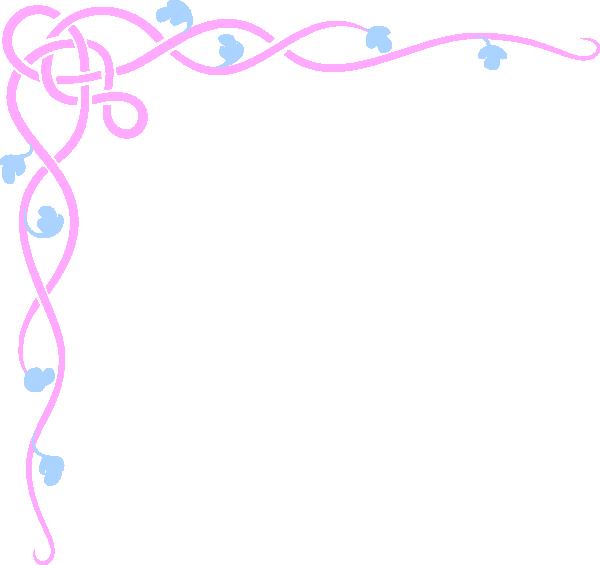 Pink Flower clipart blue flower Vector online Border Pink art