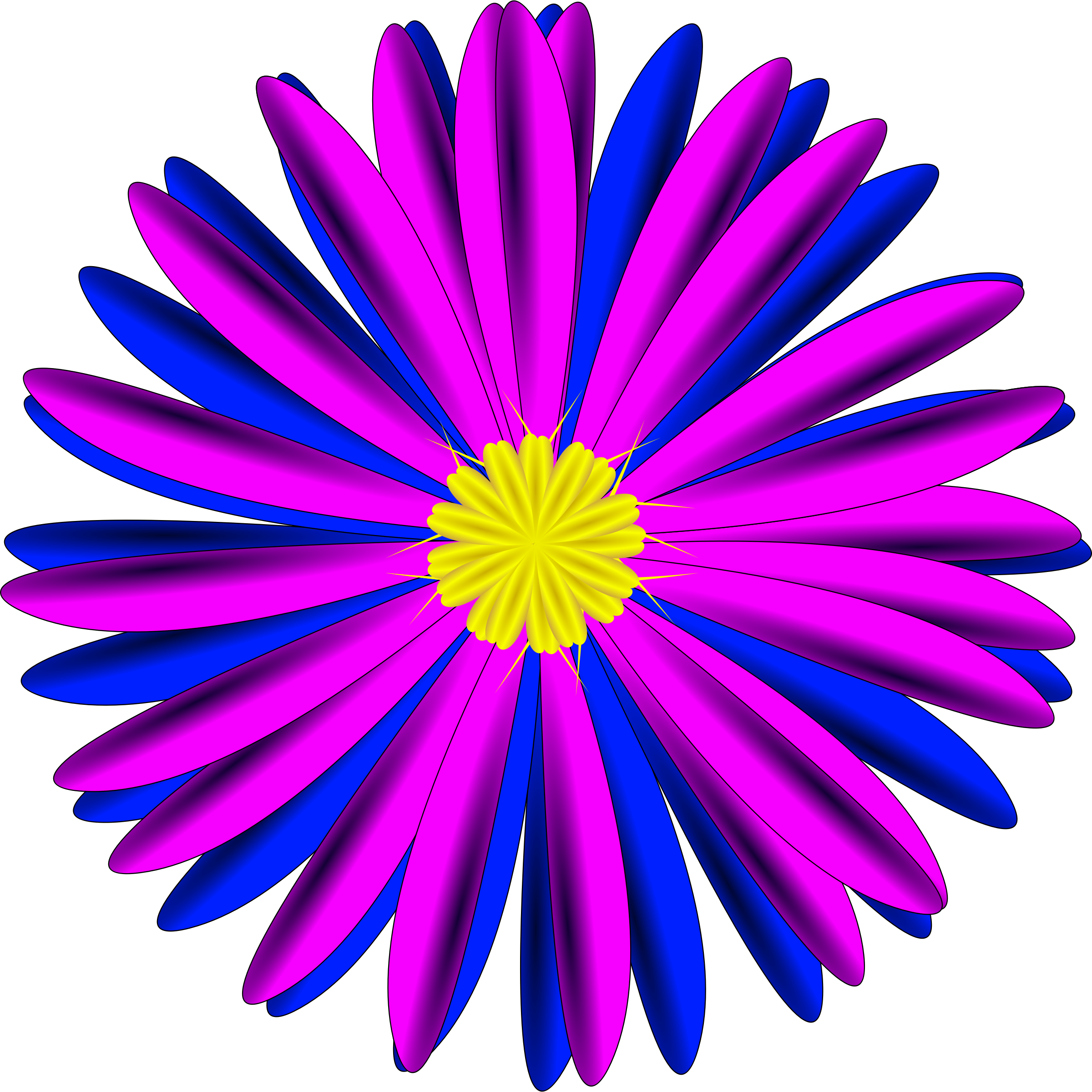 Blue Flower clipart pink flower Pink Pink and Blue Blue