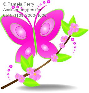 Beautiful clipart flower butterfly Design a a Art Logo