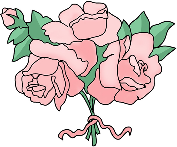 Pink Rose clipart cartoon Pink roses flower free Clipart