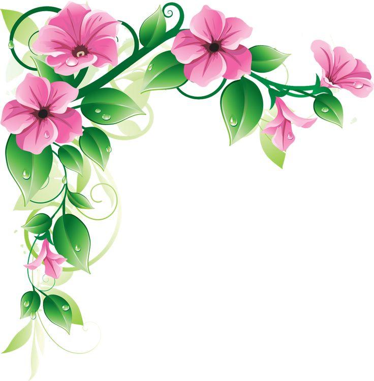 Celebration clipart corner For  Clip Flower Flowers