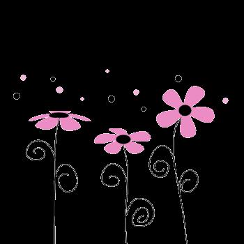 Pink Flower clipart cool cartoon Black PicsFlower FlowersArt cute border