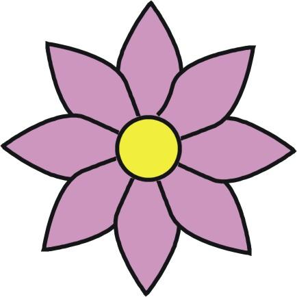 Pink Flower clipart cool cartoon Cartoons Free Free Flowers Clip