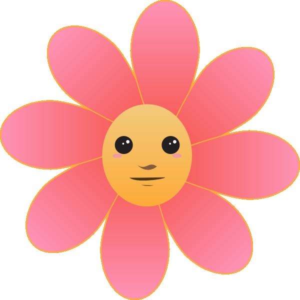 Pink Flower clipart cool cartoon Face com Clip Download