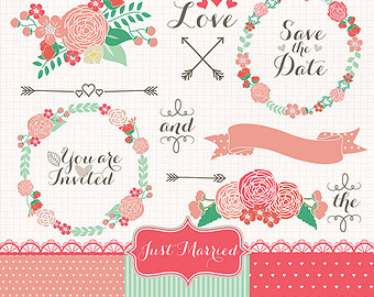 Red Flower clipart marriage flower #6