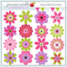Pink Flower clipart cute flower Use Pink Cute Graphics flowers