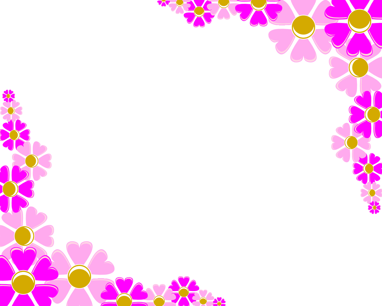 Decoration clipart powerpoint Pink Free Corner Backgrounds Flower