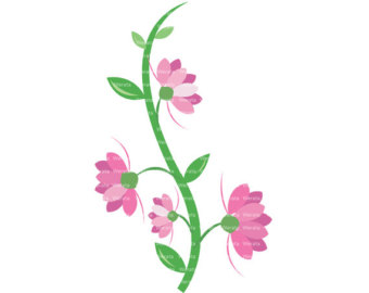 Pink Flower clipart flower boarder Clipart Free Border Images Clipart