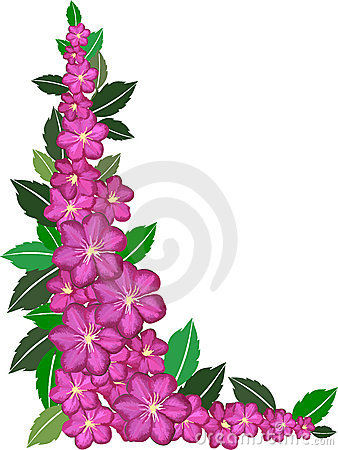 Pink Flower clipart flower boarder Images Clipart Free Panda Flower