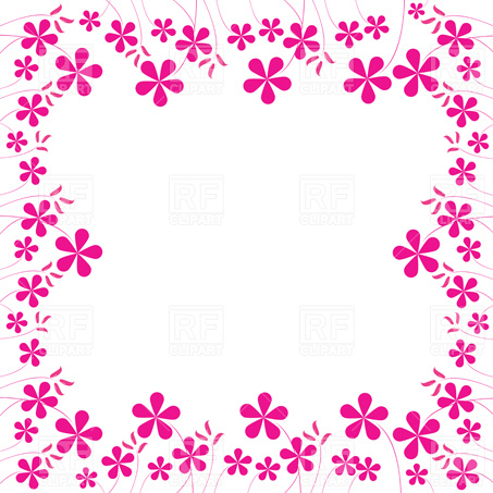 Pink Flower clipart flower boarder Art Clip Cliparts Free Clip