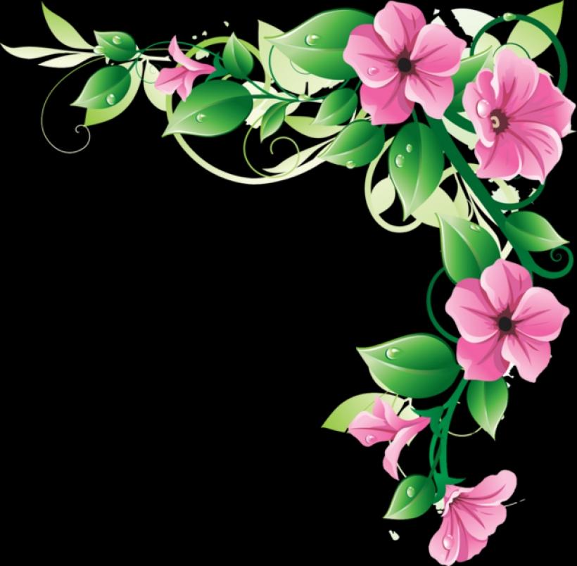 Pink Flower clipart flower boarder Images clipart art panda clipart