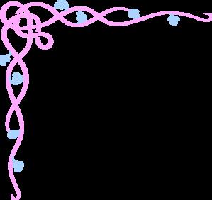 Pink Flower clipart flower boarder Vector clip Clip Border Art