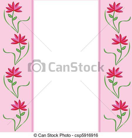 Pink Flower clipart flower boarder Web Free pink Design Stock
